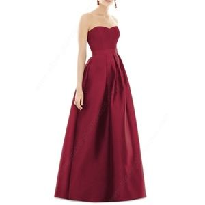 Alfred Sung Dessy Sateen gown